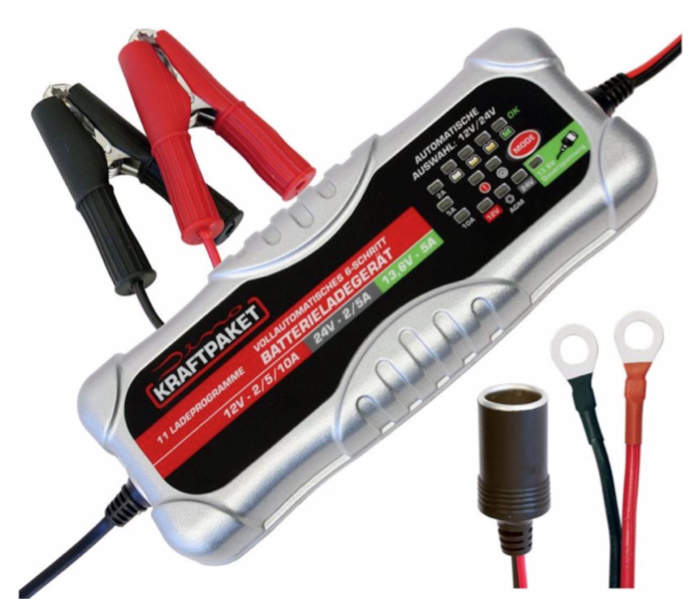 Dino 136302 Kraftpaket 12/24 V 10 A Auto-Batterieladegerät für nur 59,95 Euro inkl. Versand