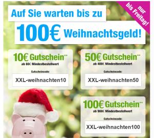 Bis zu 100,- Euro Rabatt bei GartenXXL (gestaffelt nach Bestellwert)!