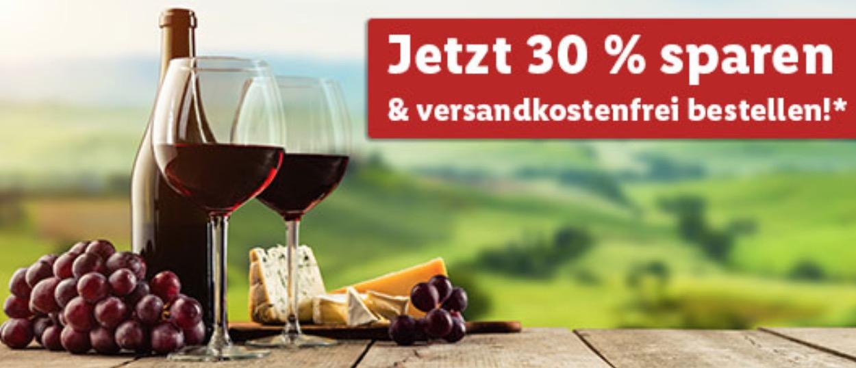 30% Rabatt auf alle Bordeaux-Weine im Lidl-Onlineshop + versandkostenfreie Lieferung (MBW: 30,- Euro)