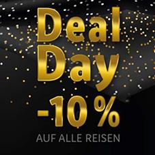 Nur heute: 10% Erstattung auf alle Onlinebuchungen bei Lidl-Reisen.de