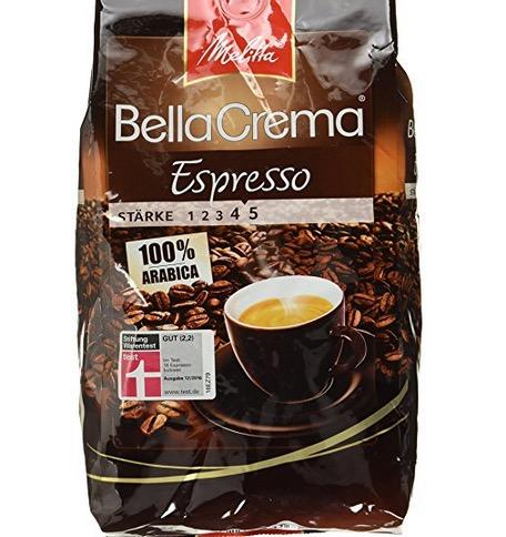 Melitta Ganze Kaffeebohnen 100 % Arabica 1000g als Plus-Produkt ab 5,27 Euro