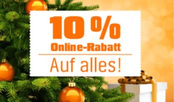 Nur heute: 10% Rabatt auf Alles bei Obi ab 100,- Euro Bestellwert!