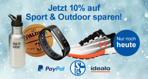 Letzter Tag: 10% auf die Kategorie Sport & Outdoor bei Zahlung via PayPal bei Allyouneed