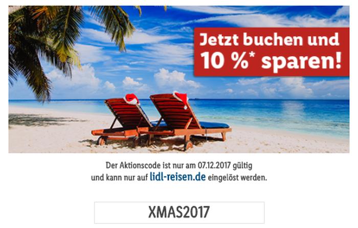 10% auf Reisen bei LIDL