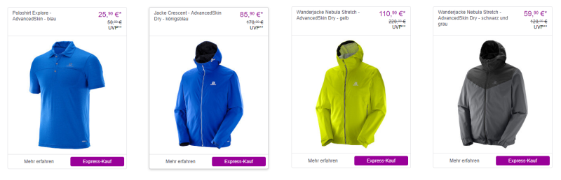 Salomon Mode bei Vente-Privee