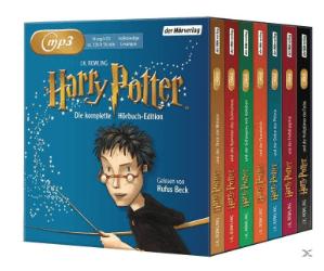 Harry Potter Die komplette Hörbuch-Edition auf 14 MP3-CDs