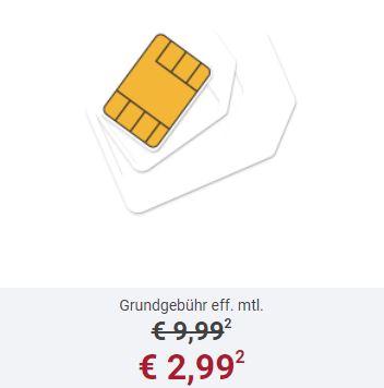Smart Surf Telefonica-Tarif mit 50 Minuten, 50 SMS und 1GB Datenvolumen nur 2,99 Euro monatlich
