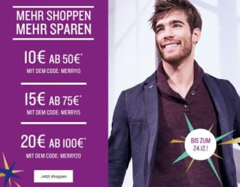 Bis zu 20,- Euro Rabatt durch verschiedene Gutcheine im Tom Tailor Onlineshop