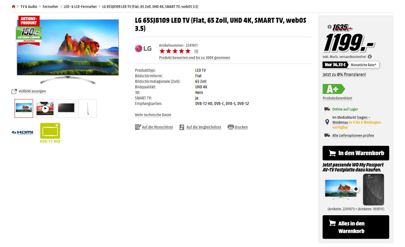 MediaMarkt Screenshot