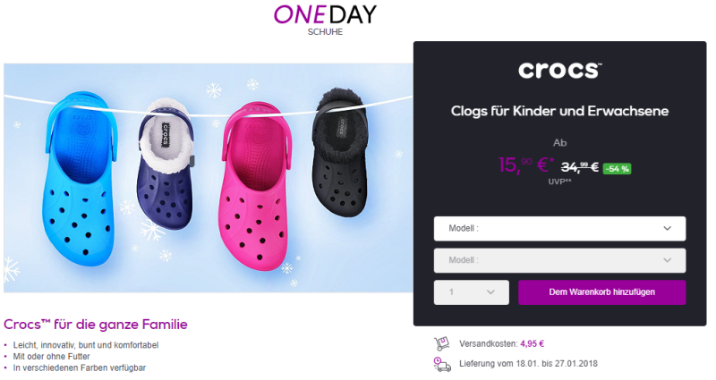 Crocs bei Vente-Privee