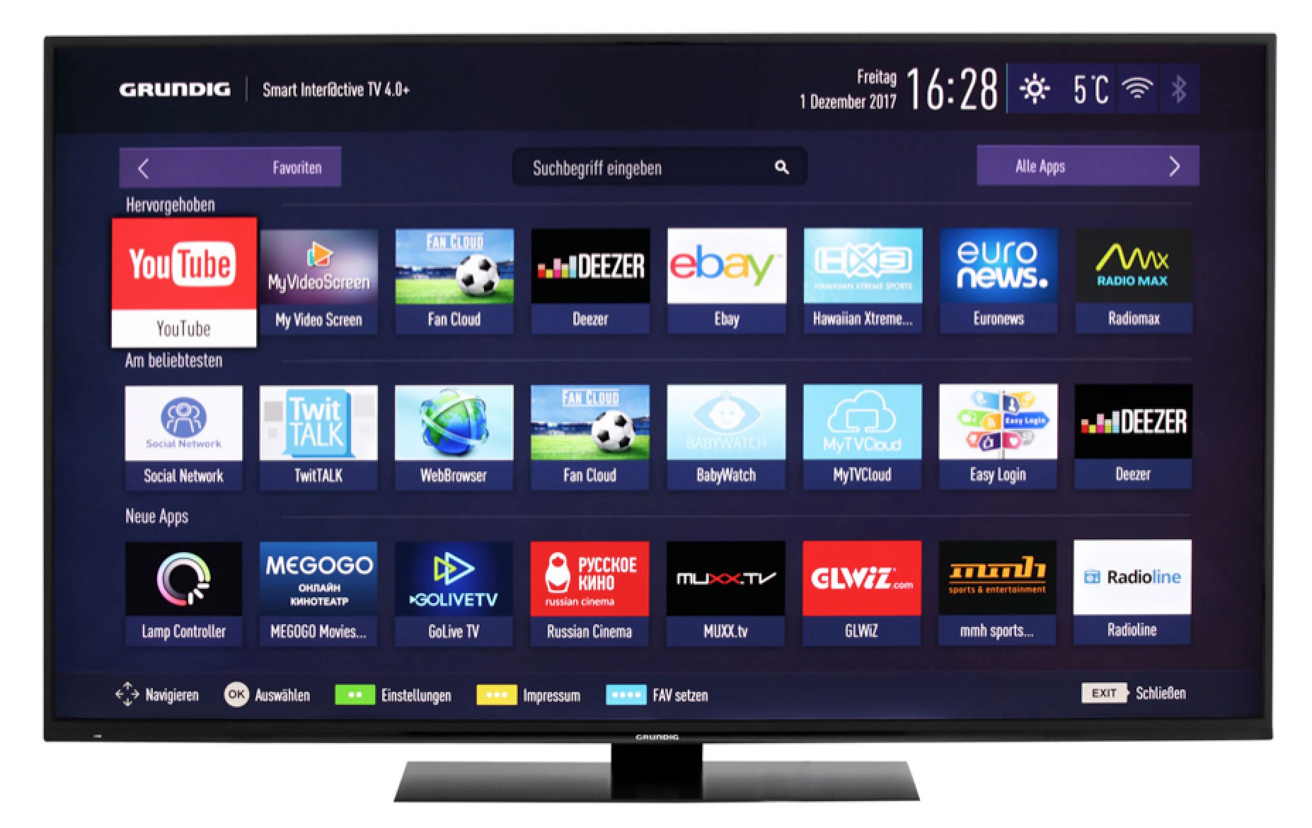 Grundig 65GUB9790 4K/Ultra-HD LED Smart Fernseher mit HDR nur 999,- Euro inkl. Versand (statt 1400,-)