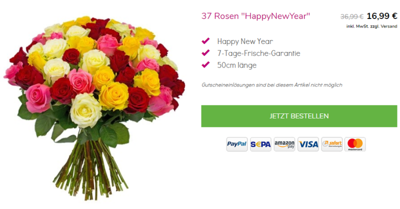 37 Rosen bei Blumeideal