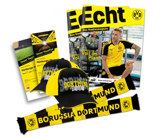 """BVB Spieltagspaket """"Triff dein Idol"""" für 2 Personen inkl. Tickets fürs Heimspiel gegen Hamburg nur 139,- Euro"""