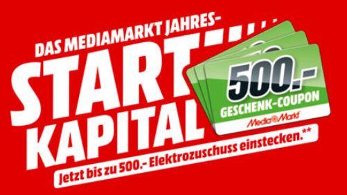Mediamarkt: Bis zu 500,- Euro geschenkt beim Kauf von Haushaltsgroß- oder Einbaugeräten, Kaffeevollautomaten, Fernsehern oder Beamern