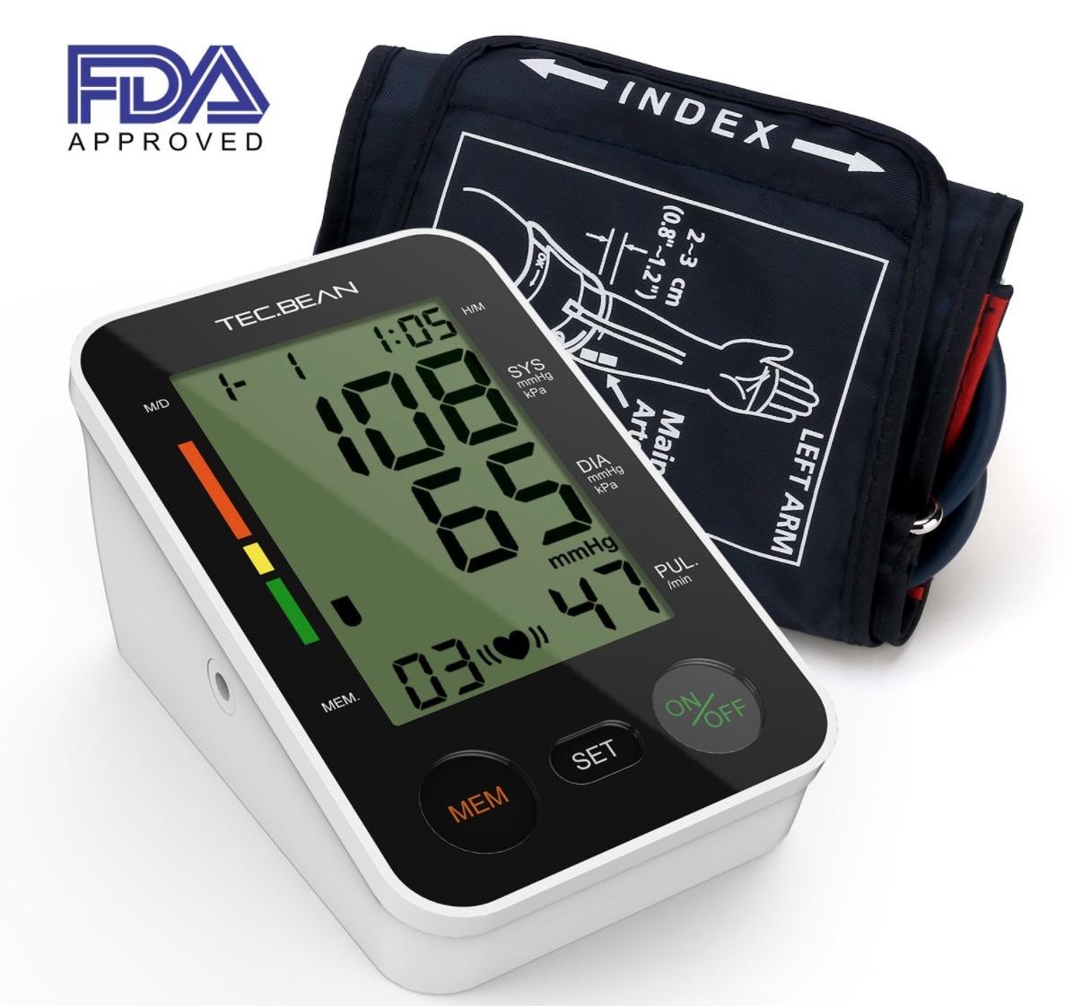 TEC.BEAN Blutdruckmessgerät mit Herzfrequenz-Erkennung für nur 23,99 Euro