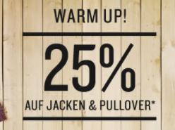25% Rabatt auf alle Jacken und Pullover im Tom Tailor Onlineshop
