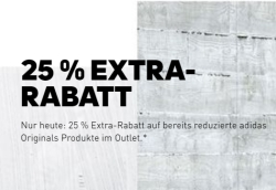 25% Extrarabatt auf alle reduzierten Adidas Originals Artikel im Adidas Outlet