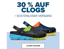 CROCS.de 30% Extrarabatt auf Clogs im Warenkorb + 30% Gutscheincode ab 55,- Euro Bestellwert!