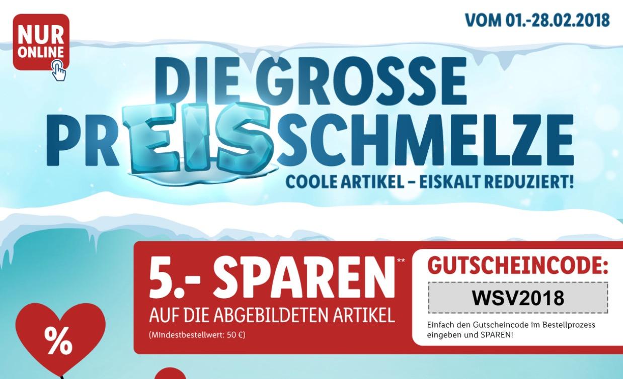 LIDL Winterschlussverkauf mit vielen Angeboten + 5,- Euro Extra-Rabatt ab 50,- Euro Bestellwert