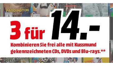 Neue 3 für 14 Euro Aktion