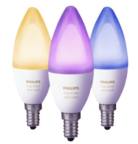 PHILIPS Hue E14 White & Color Ambiance 3er Pack (6.5 Watt) nur 89,- Euro inkl. Versand