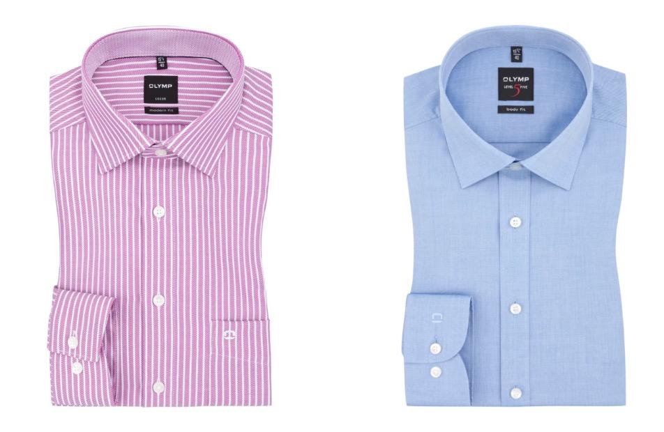 Verschiedene Olymp Hemden für je nur 30,- Euro bei Hirmer