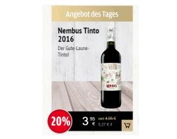 Vinos.de Tagesangebot: 7 Flaschen Nembus Tinto 2016 für nur 27,65 Euro inkl. Versandkosten