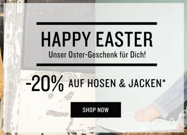 20% Extrarabatt auf Jeans und Jacken im Tom Tailor Online-Shop