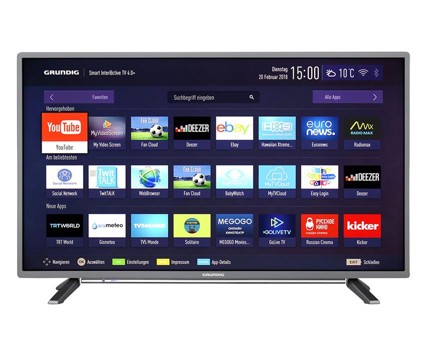 Grundig 40 GFT 6728 40 ZollFull HD LED-Fernseher Smart TV für nur 279,- Euro