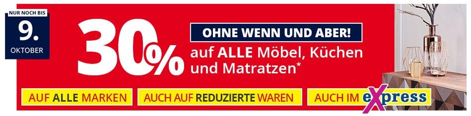 Möbel Höffner 30% Rabatt auf alle Möbel, Küchen und ...