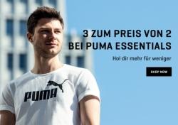 Puma Onlineshop: 3 Puma Essentials Artikel kaufen und nur 2 bezahlen + 30% Rabatt!