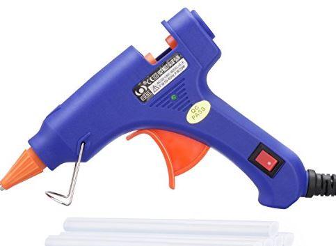 TOPELEK Mini Heißklebepistole mit 50 Klebestiften für nur 7,16 Euro