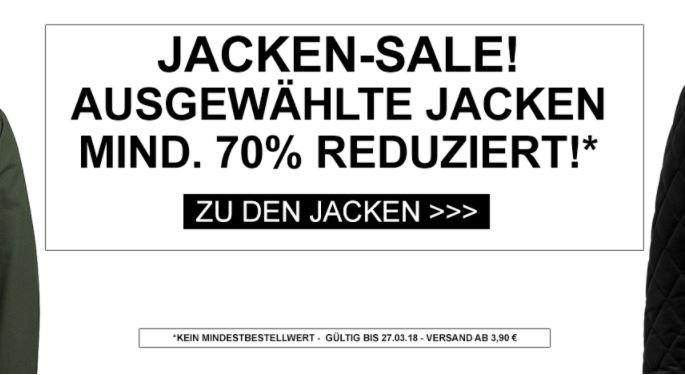 Bis zu 70% Rabatt auf ausgewählte Jacken bei Jeans-Direct im Onlineshop