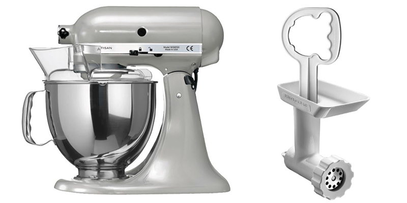 kitchenaid 5ksm150psemc artisan k chenmaschine fleischwolf vorsatz 5fga f r nur 399 euro. Black Bedroom Furniture Sets. Home Design Ideas