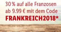 Lidl-Shop.de: 30% Rabatt und versandkostenfreie Lieferung für alle Französischen Weine