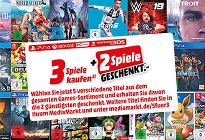 c7810b01ff Wieder da! MediaMarkt Games Aktion: 5 Spiele kaufen und nur 3 ...