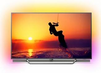 Philips 55 Zoll Ultra-HD 4K LED-Fernseher mit 3seitigem Ambilight