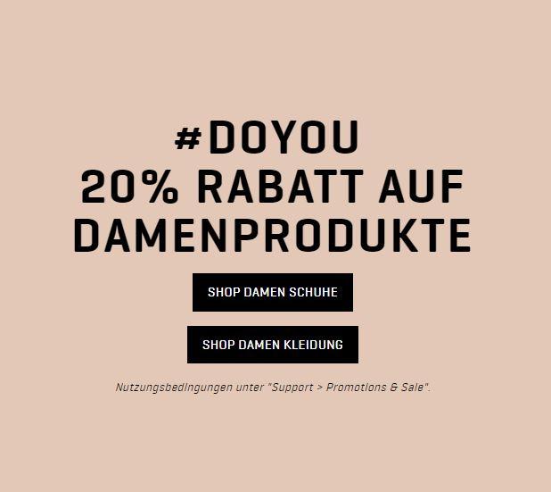 20% Rabatt auf fast die gesamte Damenbekleidung (auch auf bereits reduzierte Ware) im Puma Onlineshop