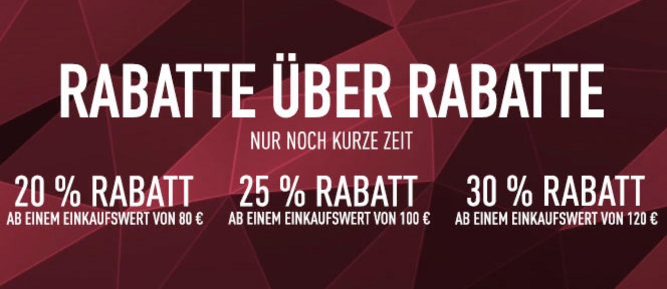 Reebok Sale mit bis zu 50% Rabatt + zusätzlich bis zu 30% Extrarabatt je nach Bestellwert!
