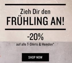 20% Rabatt auf T-Shirts & Langarmshirts, Tops & Polos, Blusen und Hemden bei TomTailor