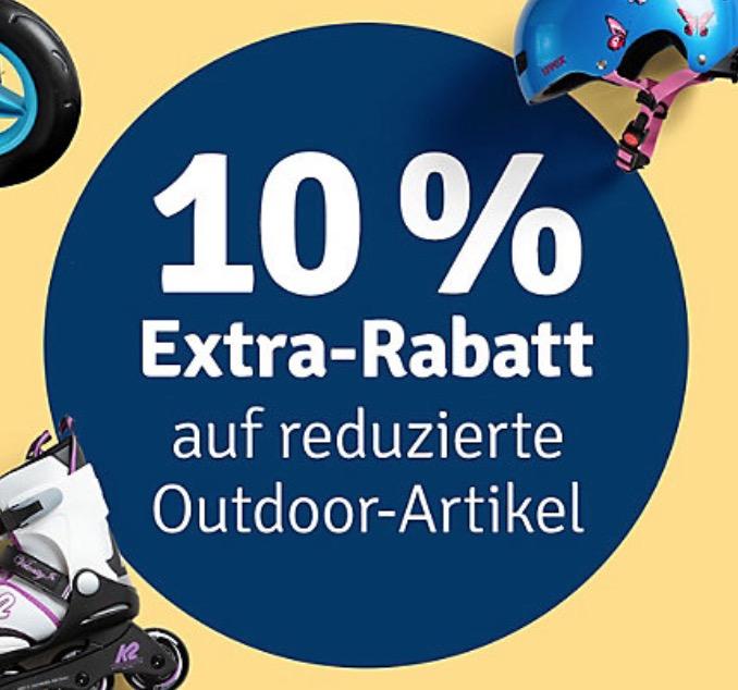 10% Rabatt auf reduzierte Outdoorartikel im myToys Onlineshop