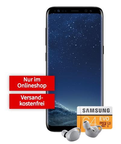 Samsung Galaxy S8 + IconX + MicroSD mit Allnet-Flat im Vodafone-Netz für monatlich 19,99 Euro