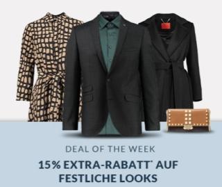 Engelhorn Weekly Deal mit 15% Rabatt auf festliche Mode + 5,- Euro Newslettergutschein
