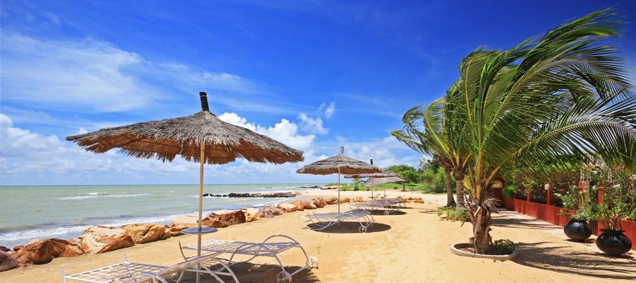 Gambia im August/September! 9 Tage mit Flug, TOP 3,5* Strandhotel, Frühstück, Transfer – für € 413 p.P.