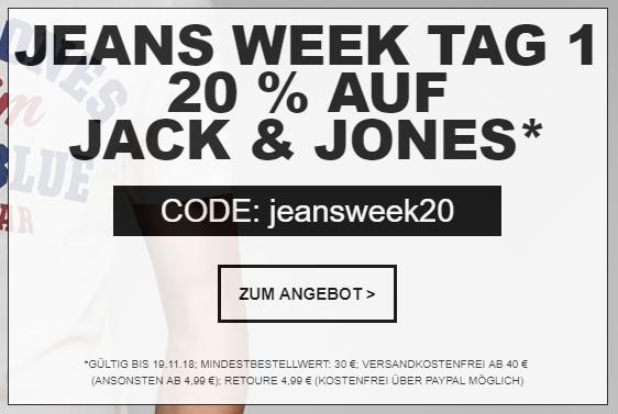 20% Rabatt auf Alles von Jack&Jones bei Jeans-Direct.de