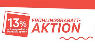 Nur noch heute! 13% Frühlingsrabatt auf Millionen Produkte bei Rakuten