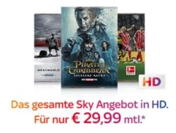 Sky Komplett Paket mit Entertainment und allen Premium-Paketen (Cinema, Sport und Bundesliga) inkl. HD nur 29,99 Euro mtl.