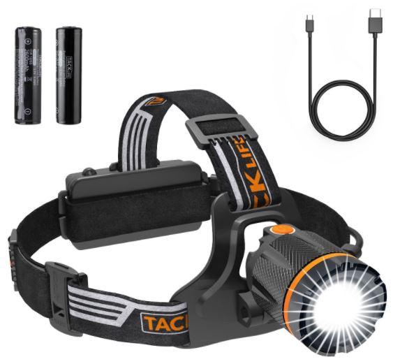 Tacklife LLH3A LED Kopflampe (3 Lichtmodi, 400 Lumen, wasserdicht) für nur 16,99 Euro inkl. Versand