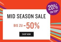 Tom Tailor Midseason Sale mit bis zu 70% Rabatt + 20% Extra-Rabatt auf reduzierte Artikel