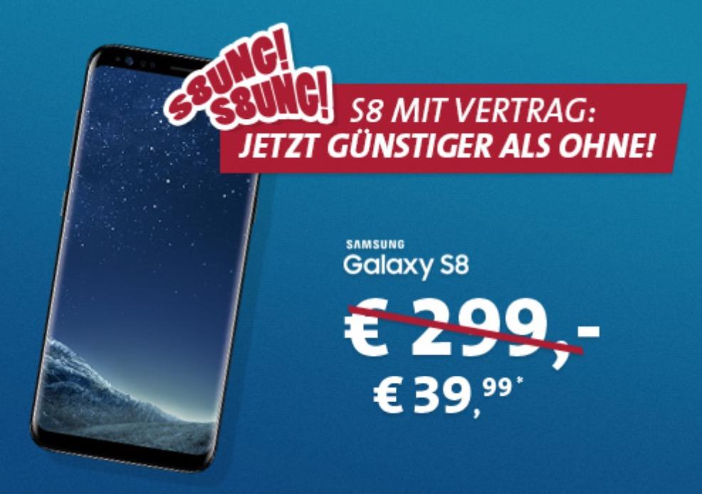 Top! VfL Bochum-Tarif (Otelo) mit Allnet- und SMS-Flat + 3GB Daten mtl. 18,48 Euro + Samsung Galaxy S8 für einmalig 39,99 Euro